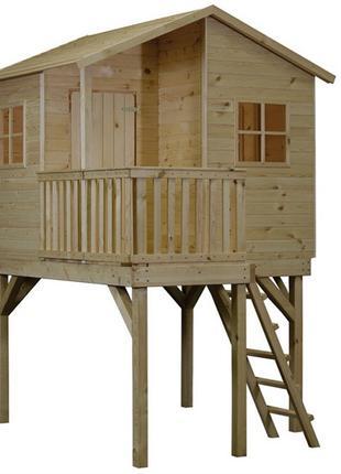 Детский игровой домик из дерева 1.8 х 1.8 на ножках