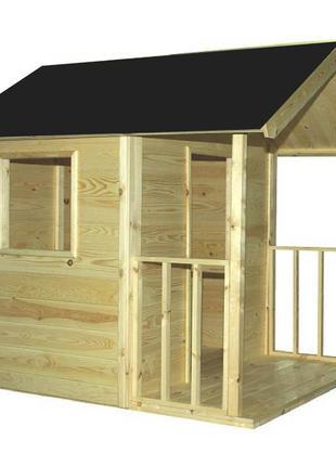 Детский игровой домик из дерева 1.8 х 1.4 с навесом