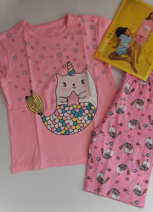 Пижама на девочку шорты футболка