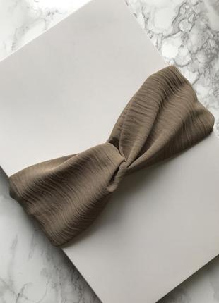 Широкая повязка на голову/тюрбан цвета капучино