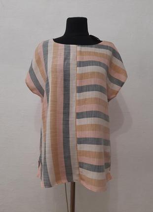 Стильная модная натуральная блуза большого размера