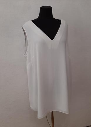 Стильная модная белоснежная шифоновая блуза большого размера
