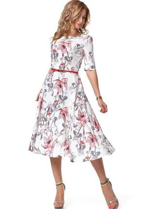 Модное, красивое, удобное женское платье на лето миди