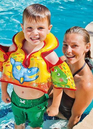 Детский надувной жилет Intex 58673 «Морской», 66 х 44 см, 3 - 6 л