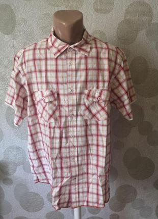 Брендовая рубашка в клетку с карманами