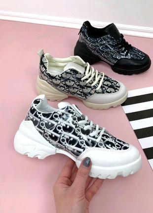 Женские кроссовки кеды Dior