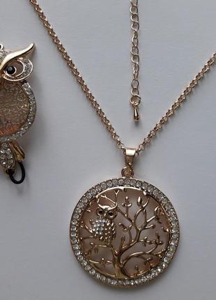 Шикарное ожерелье древо жизни,с кристаллами