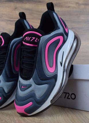 👟кроссовки женские nike air max 720 серые с розовым / наложенн...