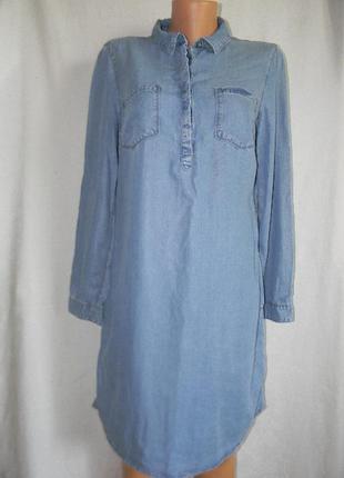 Джинсовое платье рубашка new look