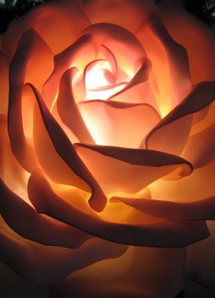Роза-светильник из изолона.