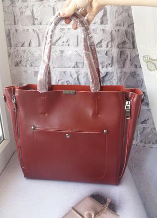 Большая кожаная сумка женская жіноча шкіряна