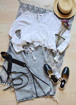 Блуза в стиле boho с кисточками