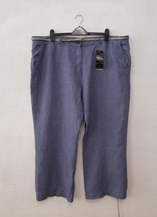 Стильные модные льняные брюки большого размера