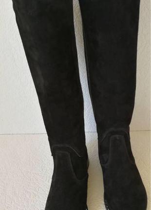 Женские зимние сапоги Limoda по колено со змейкой еврозима черные