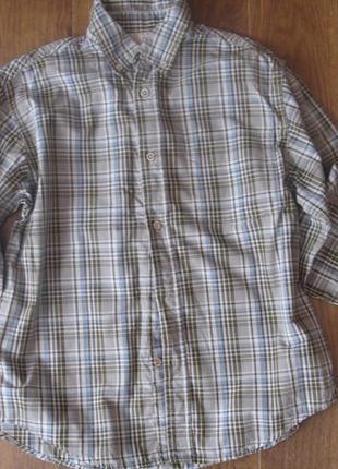 Фирменная timberland стильная рубашка мальчику 10-12 лет