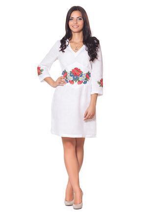 Женское платье Вышиванка Лен