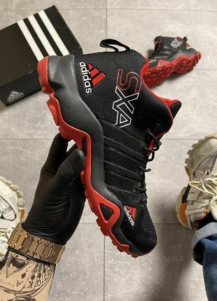 Кроссовки adidas terrex sxa black/red  🌶