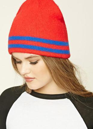Forever 21. товар из англии. теплая шапка с полосками.