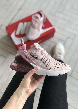 Шикарные женские кроссовки nike 270 в розовом цвете (36-40)