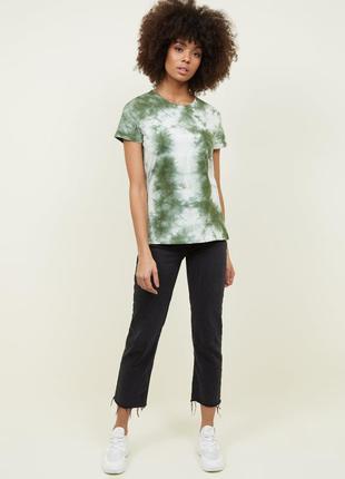 New look. товар из англии. футболка tie dye дизайне в палитре ...
