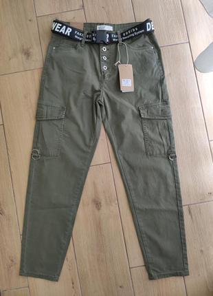 Женские хлопковые брюки карго в разных цветах размеры от м до xxl