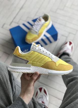 Стильные кроссовки adidas zx 500 в желтом цвете (36-42)