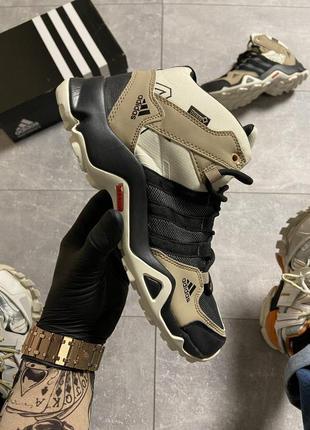 Кроссовки adidas terrex ax3 beige/black 🌶