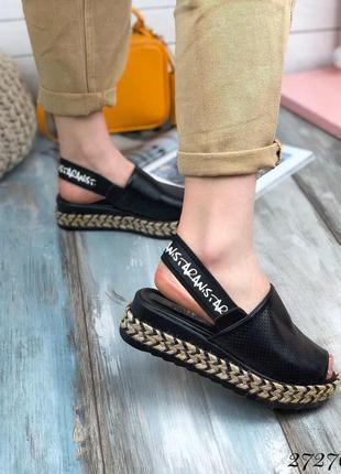 Босоножки 🌿 низкая платформа с танкеточкой  сандали босоніжки