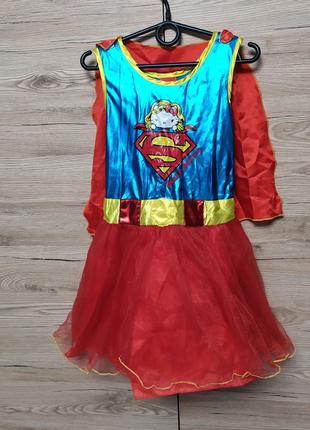 Детское платье Супервумен,Супергел,DC Comics на 7-8 лет