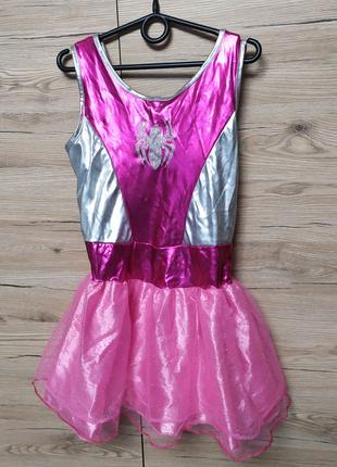 Детское платье Спайдервумен,Супервумен на 7-8 лет