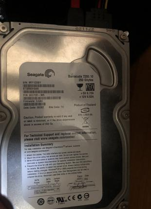Продам жесткий диск (HDD) Seagate BarraCuda 250GB (7200rpm 8MB)