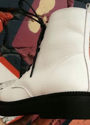 Боты !!! Dr. Martens! Женские зимние кожаные ботинки на шнуровке