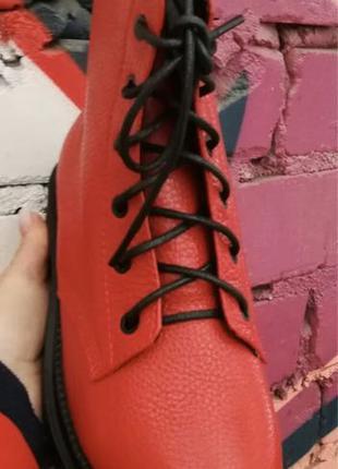 Боты!!! Dr. Martens! Женские зимние кожаные ботинки на шнуровке с