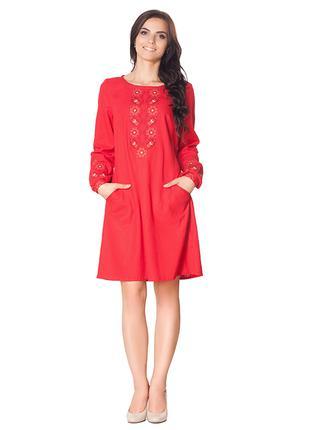 Женское платье с вышивкой Вышиванка от S -3XL