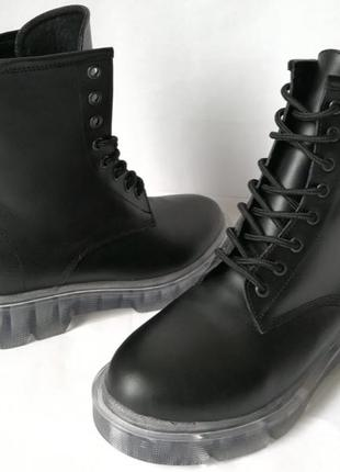 Легендарные! Dr. Martens Jadon женские зимние кожаные ботинки на