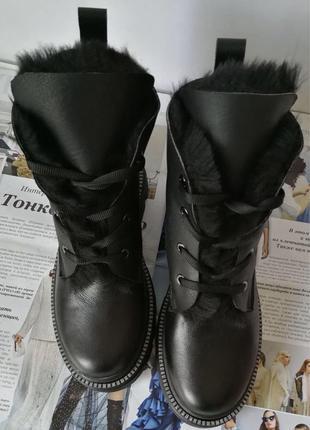 Mi! Dior ботинки зимние женские! На шнуровке из натуральной кожи