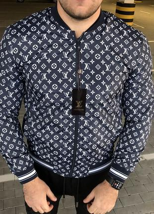 Supreme x Louis Vuitton Jacquard Monogram Blue Bomber