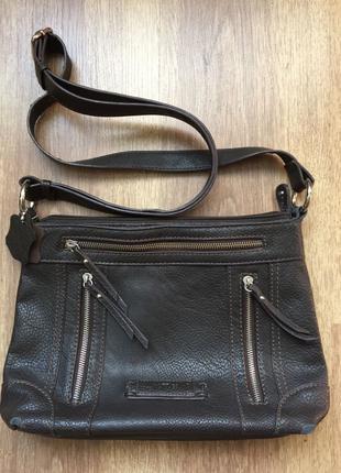 Кожаная женская сумка Matties, коричневого цвета