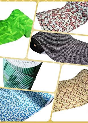 Качественный Рулонный Мерный коврик для Ванной Ширина 65, 80, 130