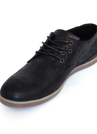 Обувь в стиле Levis осенние туфли Левис мужские кожа комфорт крас