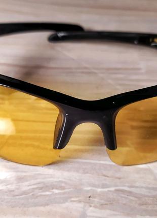 Антибликовые очки( пара) авто, мото, вело аксессуар, защита