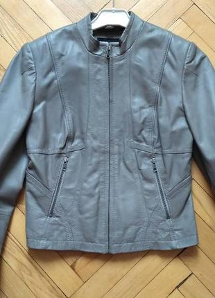 Женский кожаный пиджак next