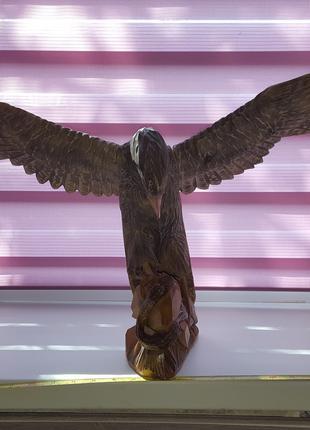 """Деревянная статуэтка """"Орёл"""""""