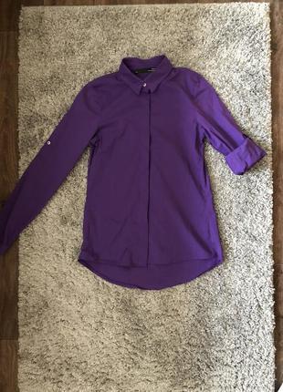 Легкая женская рубашка фиолетового цвета
