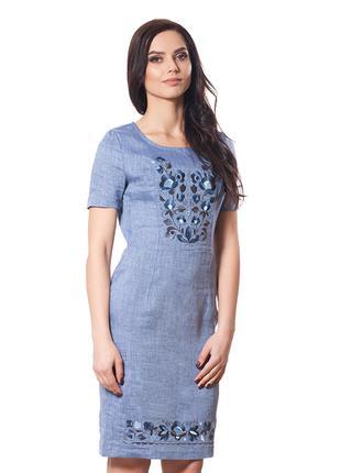 Летнее платье Лен Вышиванка