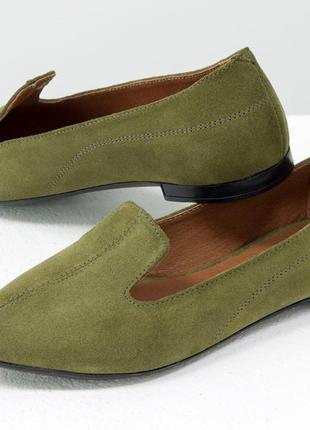 Облегченные туфли из натуральной замши