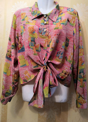 Укороченная блуза, блузка (в ретро стиле), размер М/L.