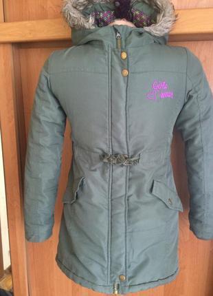 Паркка, куртка, деми,   girls wear.