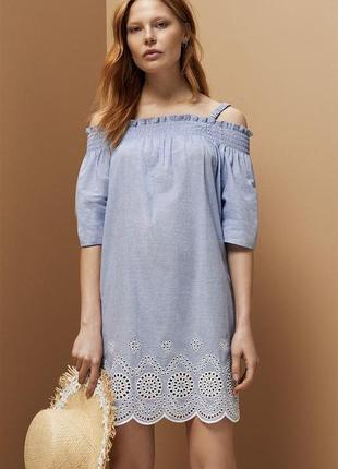 Платье с  вышивкой primark р. 14