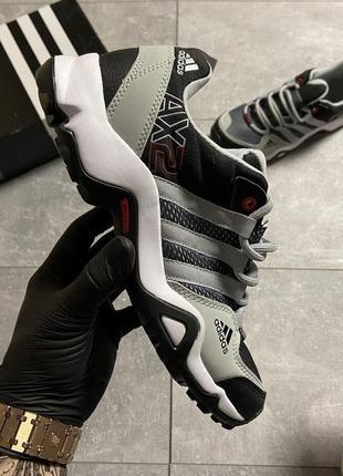 Кроссовки мужские летние adidas terrex ax2 gray/black 🌶